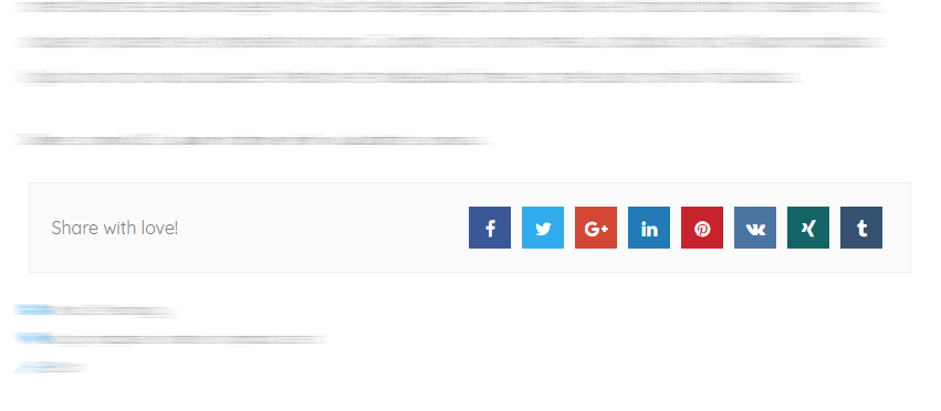 Show social share buttons | AttesaWP Documentation